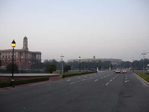 Government buildings in New Delhi.